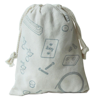 100% cotton fabric bag with imprinted logo small bag cotton drawstring bag Canvas tote bags for Laundry